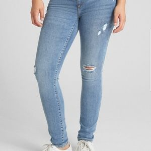 Gap 1969 Maternity Distressed Jeans Indigo Blue